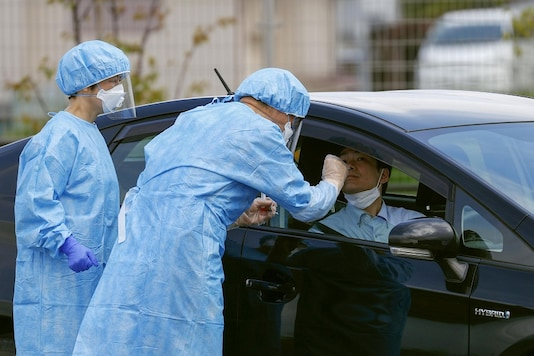 File photo of medical workers carrying out a mock drive-through testing for the coronavirus disease (COVID-19) in Nara, Japan. (Photo: REUTERS)