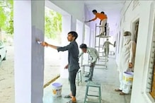 Quarantined Labourers in Rajasthan Give Government School Fresh Coat of Paint