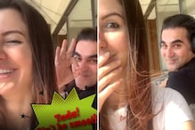 Arbaaz Khan's Girlfriend Giorgia Andriani Shaves His Stubble in Lockdown; Watch Video
