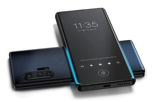 The new Motorola Edge+, the brand's flagship smartphone.