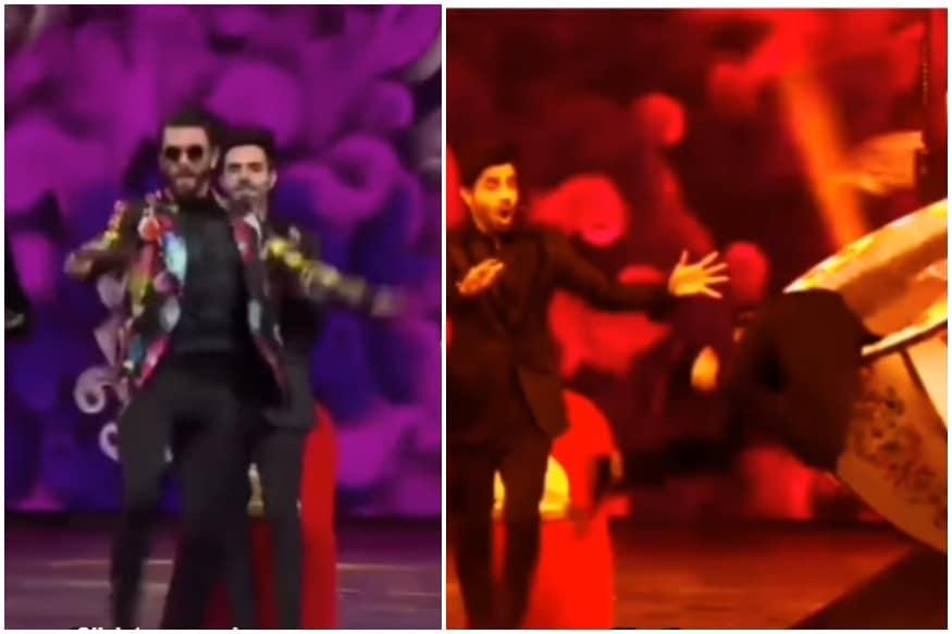 Ranveer Singh Dancing to Deepika Padukones Nagada Sang Dhol Baaje Song Goes