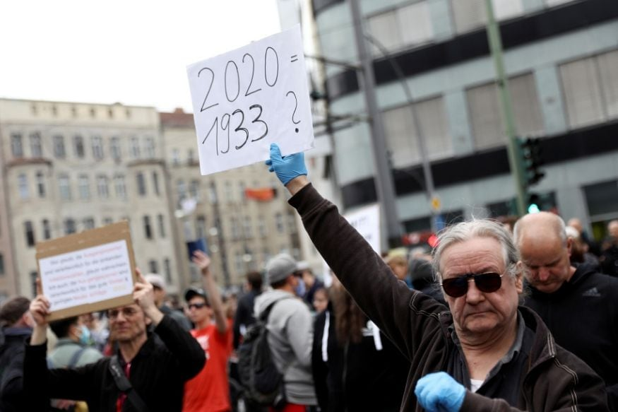 'I Want My Life Back': Germans Protest Against Lockdown as Coronavirus Cases Rises to 152,438