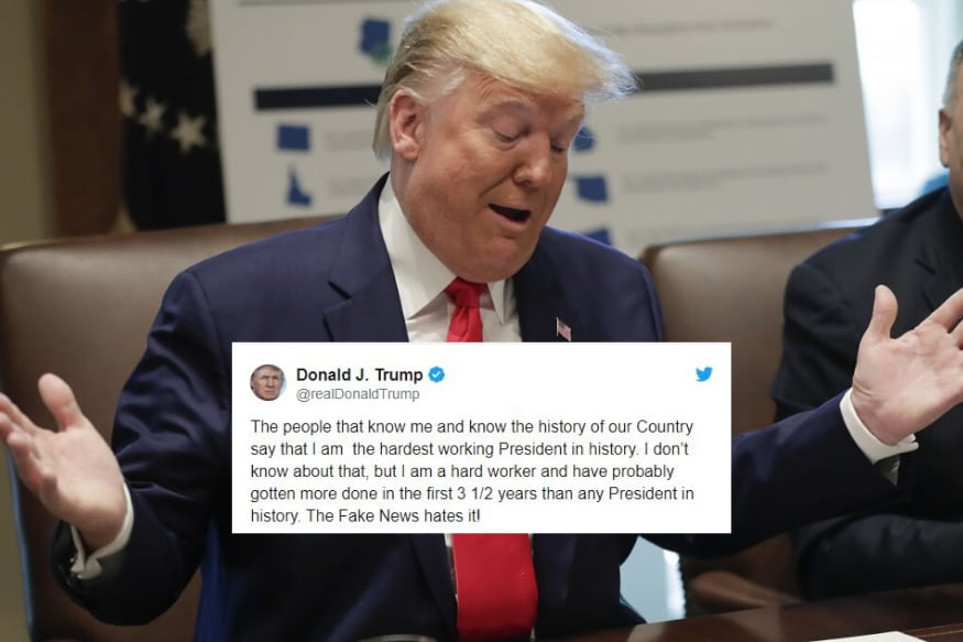 Trump Claims To Be The Most Hardworking President In US History