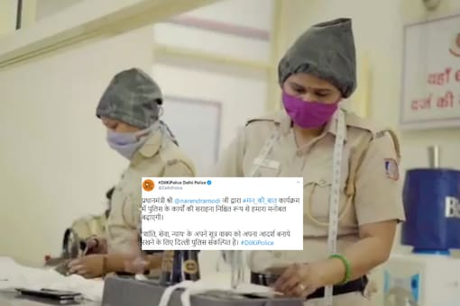 Screenshot from video tweeted by Delhi Police.