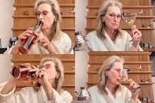 Meryl Streep Sipping Scotch from the Bottle While Singing in a Bathrobe is a Mood