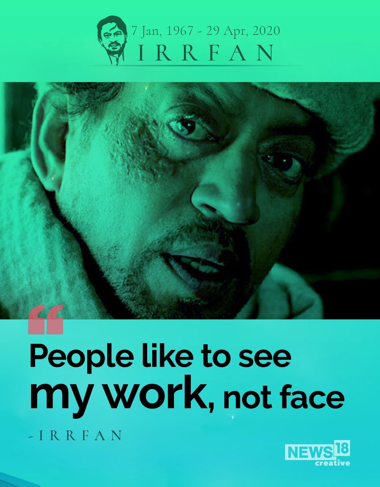 Irrfan Khan 1967 2020 Here Are Top Quotes By The Master Of One Liners News18
