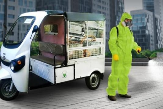 Kinetic e-vehicle for fogging.