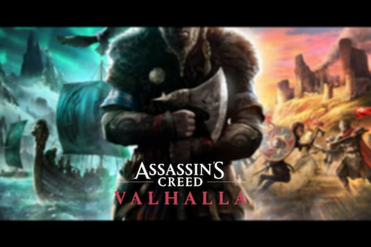 The initial game poster of Assassin's Creed: Valhalla, sketched live by Bosslogic.