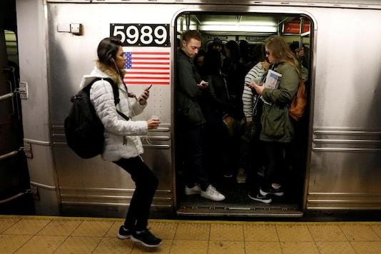 FILE PHOTO: Passengers wait inside a C subway train in New York City. (REUTERS/Brendan Mcdermid/File Photo)