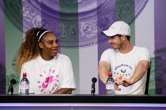 Andy Murray (R), in the picture with Serena Williams, has often voiced his support for equality on the tennis tour. (Photo Credit: Reuters)