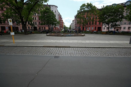 An empty street is pictured on Labour Day, as the spread of the coronavirus disease (COVID-19) continues, in the Kreuzberg district of Berlin, Germany May 1, 2020.   REUTERS/Hannibal Hanschke