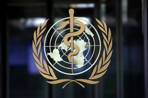 A logo is pictured on the headquarters of the World Health Organization (WHO). (Reuters)