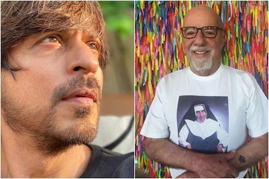 Shah Rukh Khan (L), Paulo Coelho