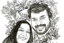 Mohanlal Posts Sweet Sketch of Mammootty and Wife on Their Wedding Anniversary