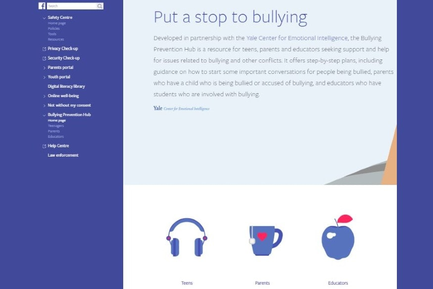 Facebook Bullying Prevention Hub
