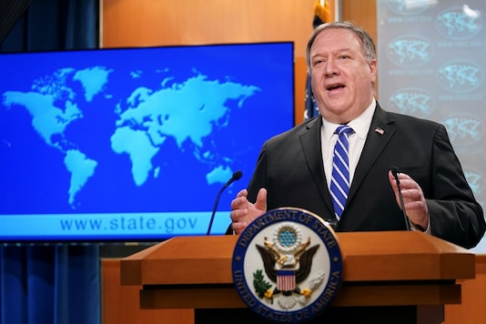 US Secretary of State Mike Pompeo speaks about the coronavirus disease during a media briefing at the State Department in Washington. (Reuters)