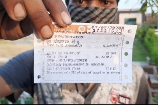 The tickets that the migrants were given carried a clear price of Rs 630. However, they claimed that they were made to pay as high as Rs 800 per ticket. (News18)