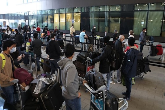 Indian citizens departing for Mumbai from London by first evacuation flight. (Image: HCI London/Twitter)