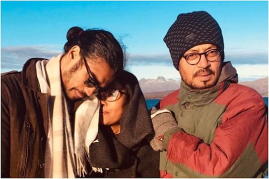 Irrfan Khan with wife and son