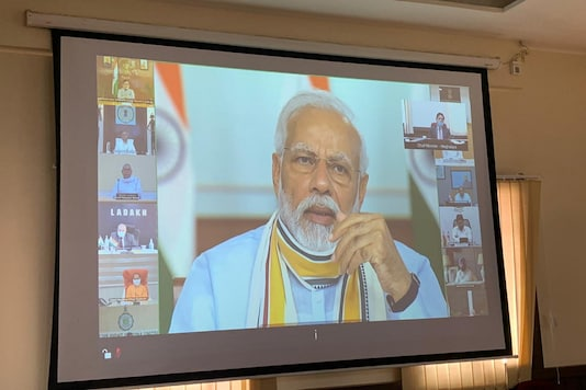 PM Modi interacts with CMs at a virtual meeting on Covid-19 response