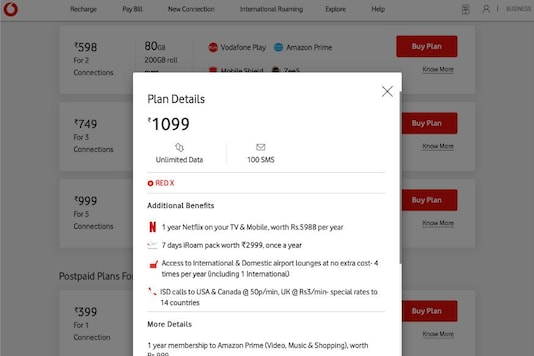 Vodafone RED X at Rs 1099: With Netflix & More, This is Still Cooler Than Airtel Rs 999 Plan