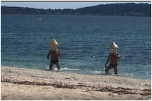Oh, Buoy! Two French Men Pose as Nautical Equipment to Flout Lockdown Norms and Swim in Sea