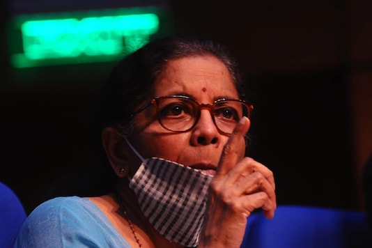 FM Nirmala Sitharaman addressed a press conference on the economic package on Wednesday. (Image: Amlan Paliwal)
