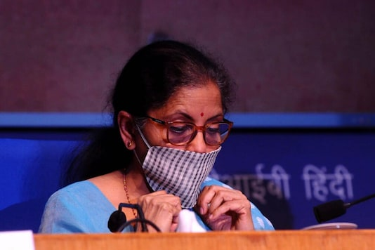 FM Nirmala Sitharaman announced relief measures at a press conference on Wednesday. (Image: Amlan Paliwal)