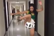 Video Viral of Freestyler Juggling Football in High Heel Prompts Fans to Challenge Ronaldo and Messi