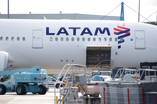 The logo of LATAM Airlines is pictured on an Airbus plane in Colomiers near Toulouse, France. (Pic Source: Reuters)
