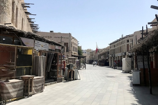 A view shows Souq Waqif almost empty, following the outbreak of coronavirus, in Doha, Qatar.   REUTERS/Stringer