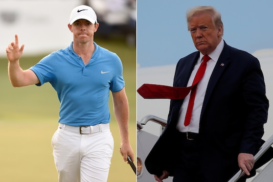 Rory McIlroy (L) and Donald Trump (Photo Credit: Reuters)