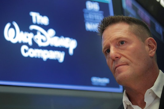 Kevin Mayer, Disney's head of direct-to-consumer division, on the floor at the New York Stock Exchange (NYSE) in New York, USA. (Pic Source: Reuters)