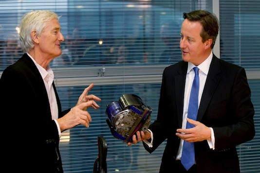 File photo of the founder of Dyson Company, Sir James Dyson and former Prime Minister of the United Kingdom. David Cameron. (Pic Source: Reuters)