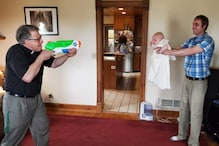 US Family Holds 'Socially Distant' Baptism for 2-month-old Baby with a Water Gun