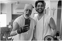Amitabh Bachchan Looks Charged Up for Workout in Mirror Selfie with Grandson Agastya