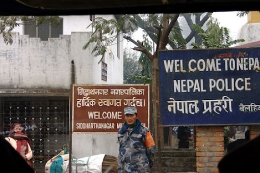 A Nepalese soldier stationed at the India-Nepal border.