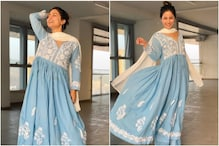 Hina Khan Looks Elegant in an All-blue Ethnic Look, See Pics