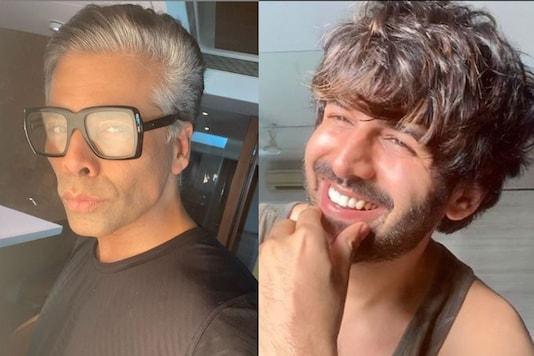 Kartik Aaryan Crashes Karan Johar's Instagram Live, Asks 'Why are Your Hair Whiter than My Teeth'