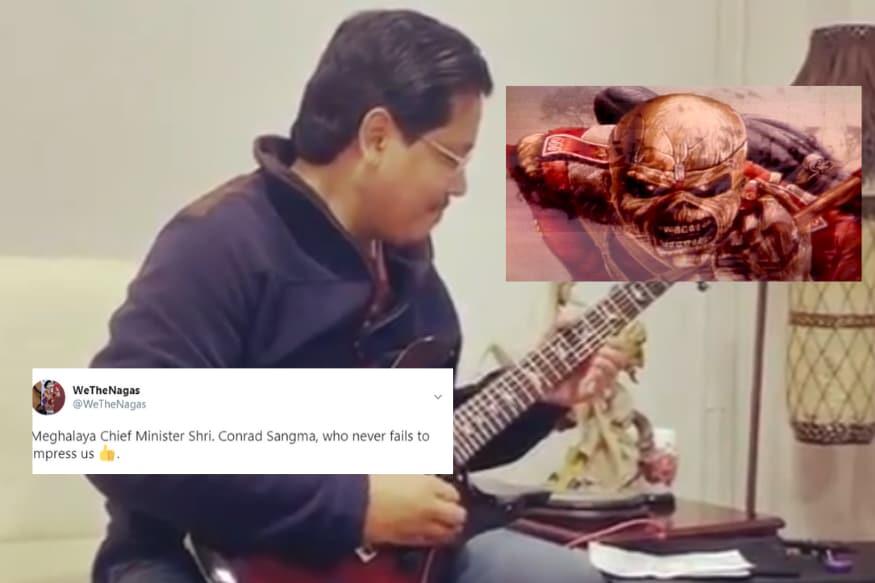 Meghalaya CM Conrad Sangma Playing Iron Maiden on His Electric Guitar Has Rocked the Internet