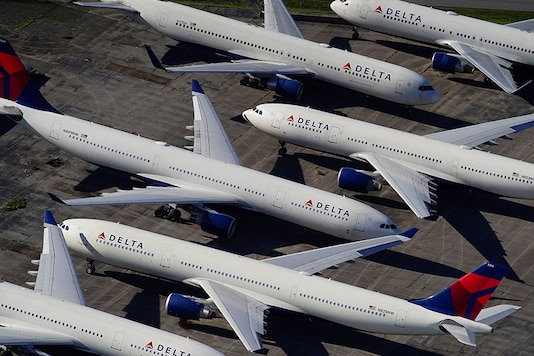 Delta Air Lines passenger planes are seen parked due to flight reductions made to slow the spread of coronavirus disease (COVID-19), at Birmingham-Shuttlesworth International Airport in Birmingham, Alabama, U.S. March 25, 2020. (Photo: Reuters)