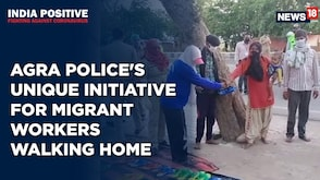 India Positive: Agra Police Offers Slippers And Shoes to Migrants Walking Home
