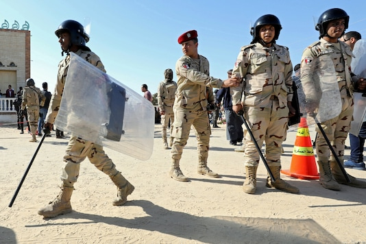File photo of Egyptian security forces in North Sinai. (Reuters)