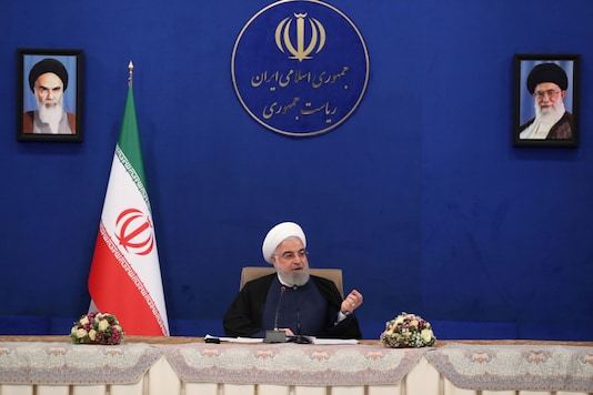FILE PHOTO: Iranian President Hassan Rouhani speaks during a cabinet meeting, as the spread of the coronavirus disease (COVID-19) continues, in Tehran, Iran, May 6, 2020. Official Presidential website/Handout via REUTERS