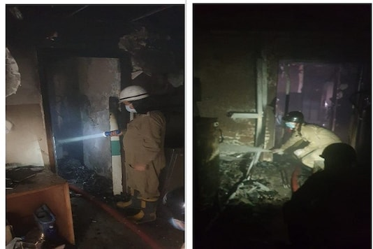 The fire was brought under control by the fire safety officials. (Credit: ANI Twitter)
