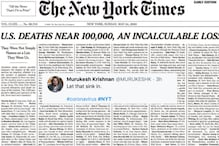 'For a Tone-Deaf Leadership': Twitter Lauds NYT for Tribute to 1,000 Covid-19 Victims