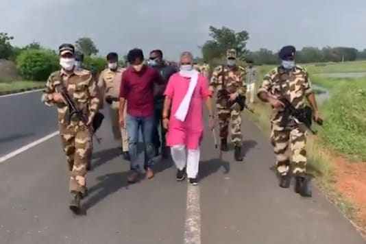 Bnegal BJP chief Dilip Ghosh on way to East Midnapore on Sunday. (Image credit: Twitter@DilipGhoshBJP)
