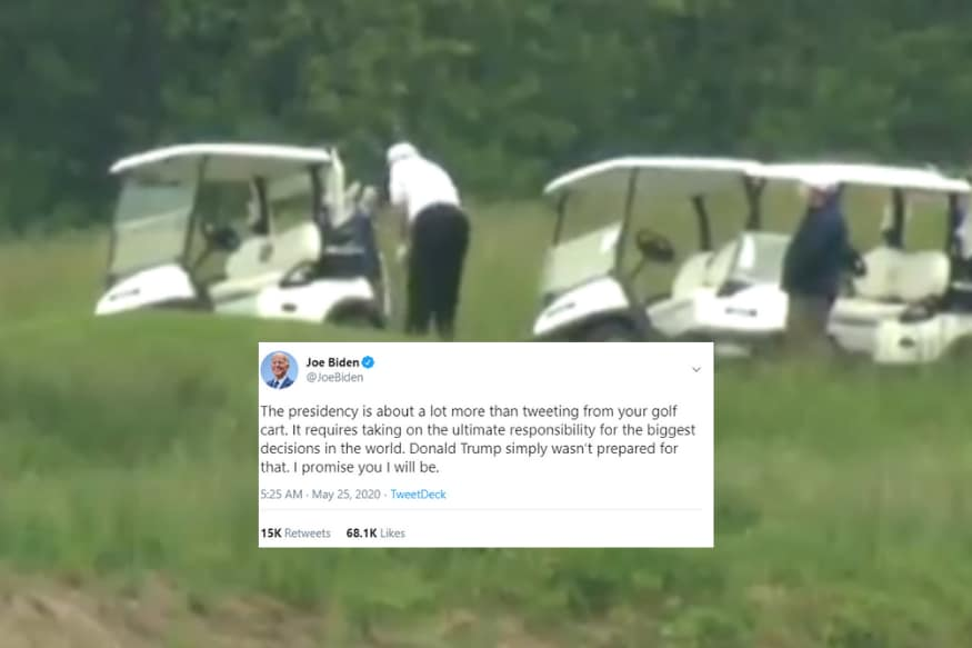 I Care Do You Trump Gets Panned For Playing Golf As Covid 19 Death Toll Nears 1 Lakh In Us