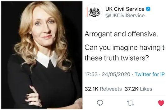 An unautorised tweet was posted by the UK Civil Services handle recently, causing an uproar on social media | Image credit: Twitter