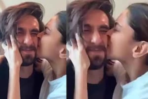 This Pic of Deepika Kissing Her 'Cutie' Ranveer' Goes Viral